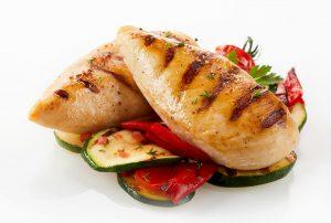 Hähnchen und Gemüse