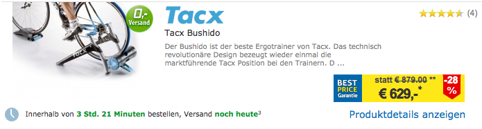 Bushido Rollentrainer Test