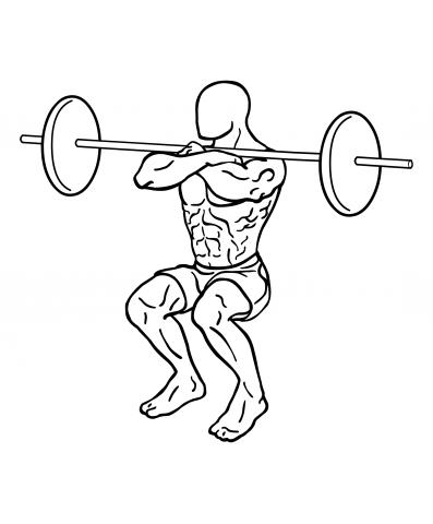 Oberschenkel Übungen - Front-Squat / Frontkniebeuge - Ende oberschenkel trainieren