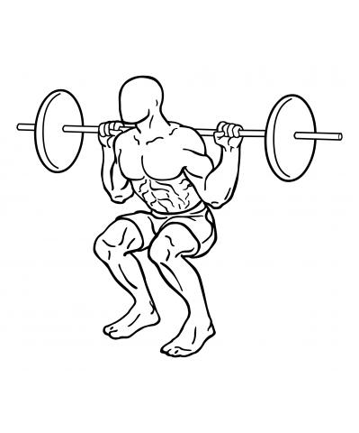 Oberschenkel Übungen - Squat / Kniebeuge - Ende