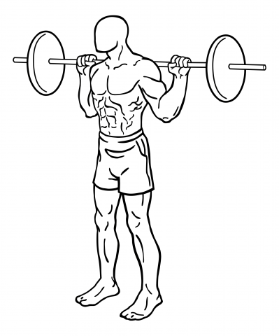Oberschenkel Übungen - Squat / Kniebeuge - Start