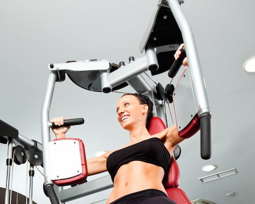 Female gym fitness