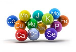 verschiedenfarbige kreise mit kurzform von chemischen elementen