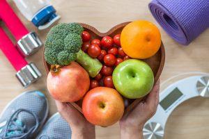 gesunde ernährung und sport ausrüstung