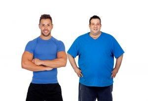 Fett abbauen und Muskeln erhalten vorher nachher