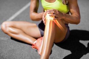 geschwollenes Knie durchs Laufen
