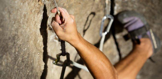 Kraftakt Klettern