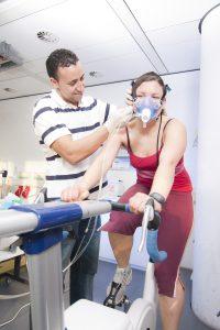 Spiroergometrie mit Therapeut