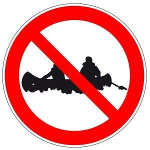 Schild Kanufahren verboten