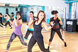 Frauenboxen in der Gruppe