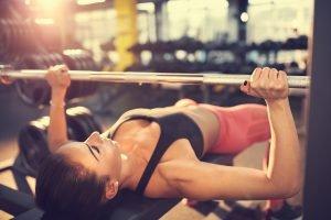 Push Training bei der Frau
