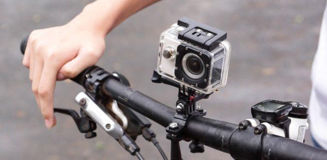 action cam an fahrrad lenker