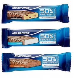 multipower proteinriegel test