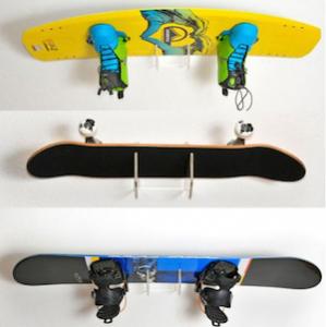 snowboard halter 4boarder mit wakeboard skateboard und snowboard