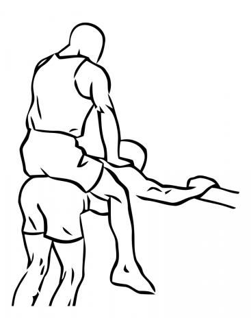ausgangsposition donkey wadenheben eine der besten waden übungen
