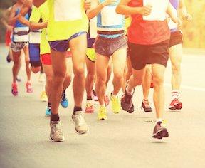 Jogger beim Lauftraining