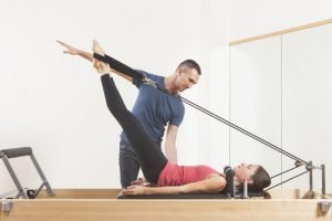 Pilates Training am Reformer