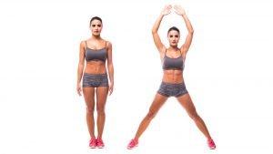 jumping jack ausführung fürs aerobic workout