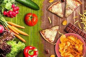 gesunde vs ungesunde ernährung