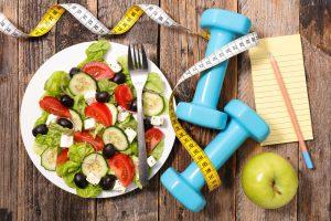 symbolbild sport und gesunde ernährung
