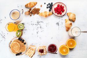zutaten für ein süßes frühstück
