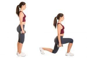 Abnehmen an den Beinen mit Ausfallschritten