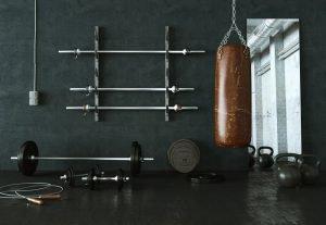 leder boxsack in fitness raum