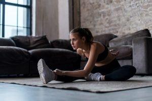 Dehnen nach Knie Übungen