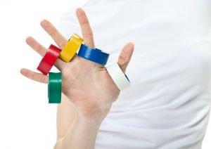 bild mit farben von tapes