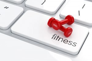 fitness im internet symbolbild