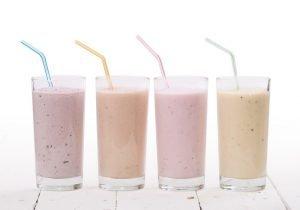 Diät-Shakes in verschiedenen Geschmacksrichtungen