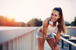 Frau beim joggen
