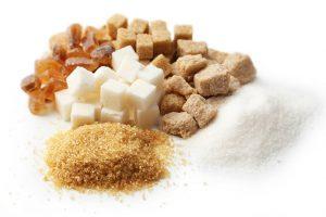 Zucker in verschiedenen Formen