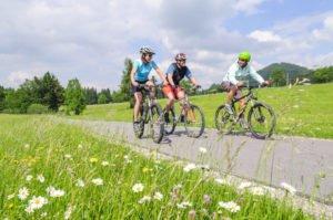 Anfänger auf dem Mountainbike