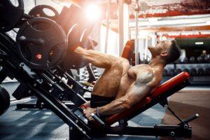 Muskelhypertrophie an der Beinpresse