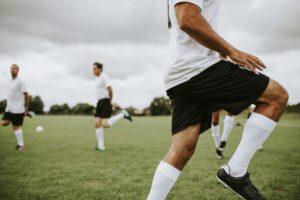 Fußballspieler beim Training