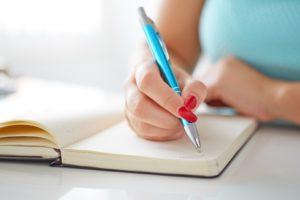 Trinkzeiten ins Tagebuch schreiben